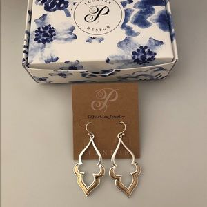 Plunder Taelynn Earrings - Silver and gold dangles